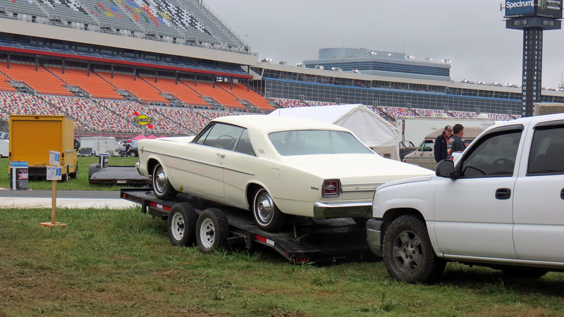 We wandered into the infield and spotted a 1966 Ford Galaxie 500 on a trailer.