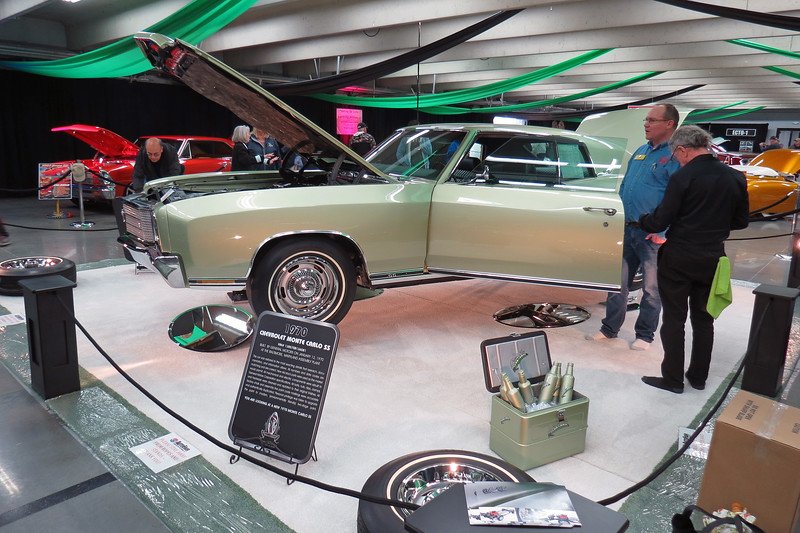 "Another featured exhibit consisted of several vehicles labeled as the ""Best of the Best.""  The car seen in the photos above and below is a rare 1970 Chevrolet Monte Carlo SS454."
