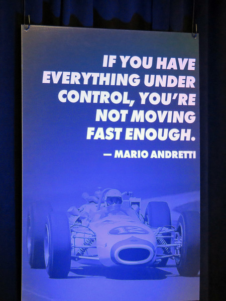 I loved this quote from Mario Andretti !