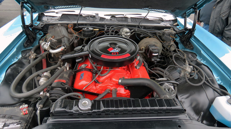 The Caprice was the upscale version of the full-sized Chevrolet.  But even so, it could be equipped with a big-block, in this case the RPO L36 427 CID V8 that made 385 hp.