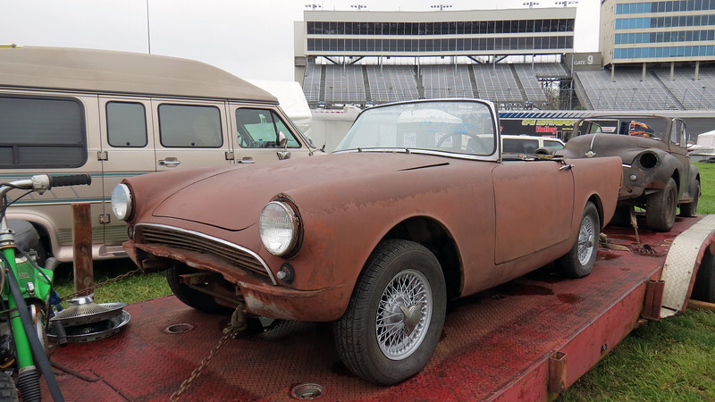 This 1960 Sunbeam Alpine is in need of a restoration.