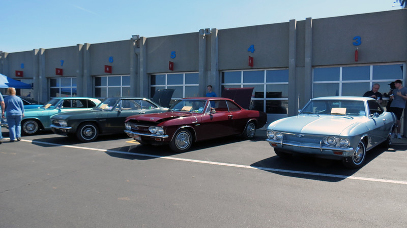 Display of Chevrolet Corvairs from the local Corvair club.