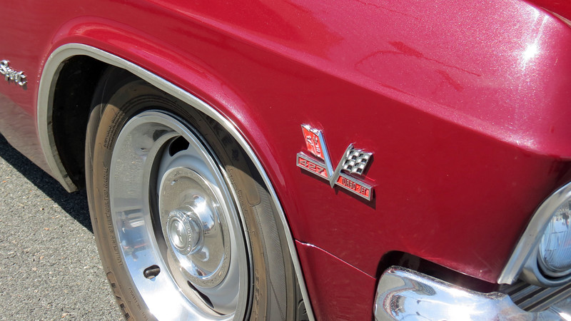 """The fender emblem says """"427.""""  But the 427 wasn't available in 1965."""