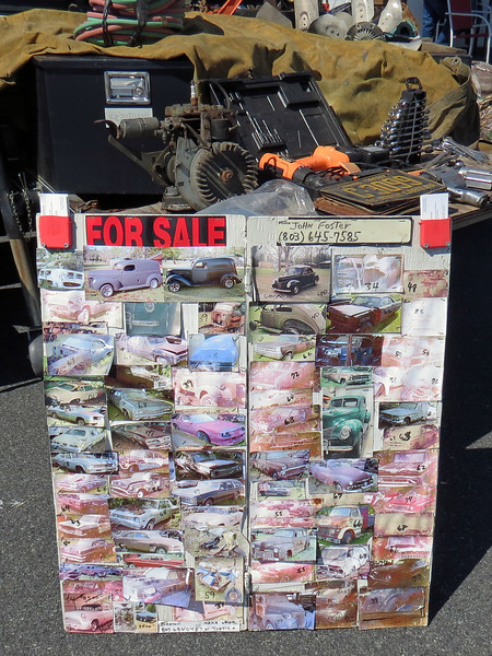 This vendor had numerous project vehicles for sale.