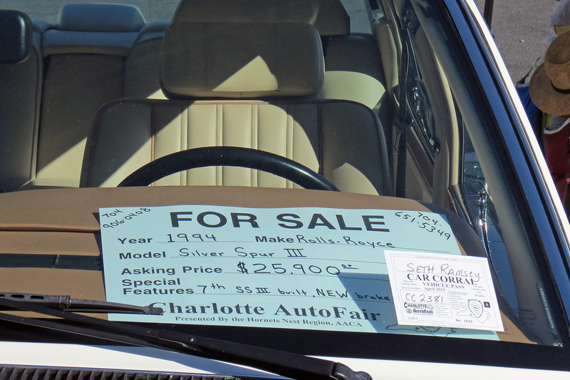 1994 Rolls-Royce Silver Spur III, $25,900.