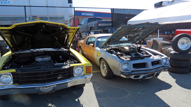 1971 Chevrolet Chevelle (L) and 1974 Pontiac Trans Am clone, asking $9,800 (R).