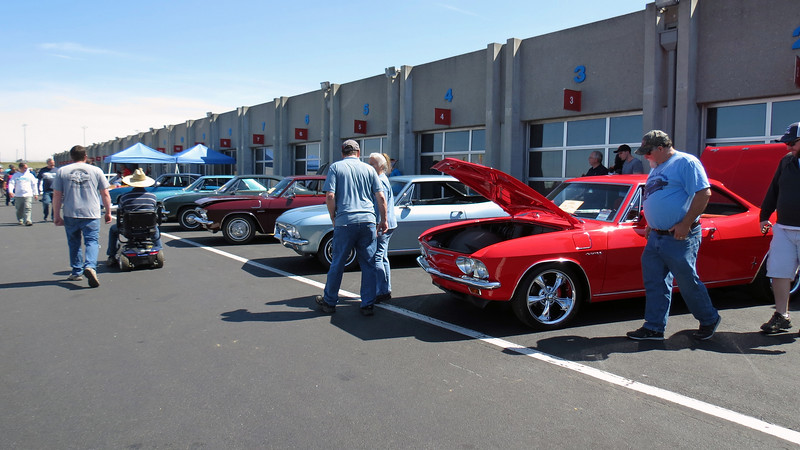 A few Chevrolet Corvairs from the local Corvair Club were on display outside of the Showcase Pavilion.