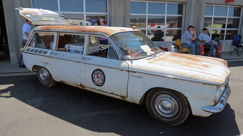 1961 Chevrolet Corvair Lakewood wagon.