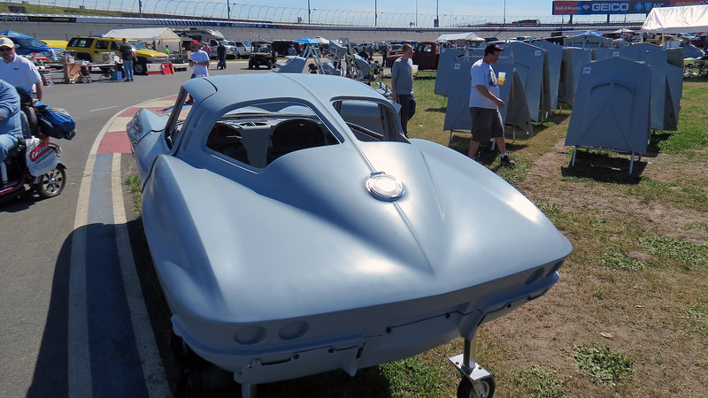 I headed out into the vendor areas to check out what was there.  The split-window design identifies this as a 1963 Chevrolet Corvette body.