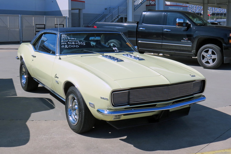1968 Chevrolet Camaro RS/SS 396 with an automatic transmission, asking $28,000.
