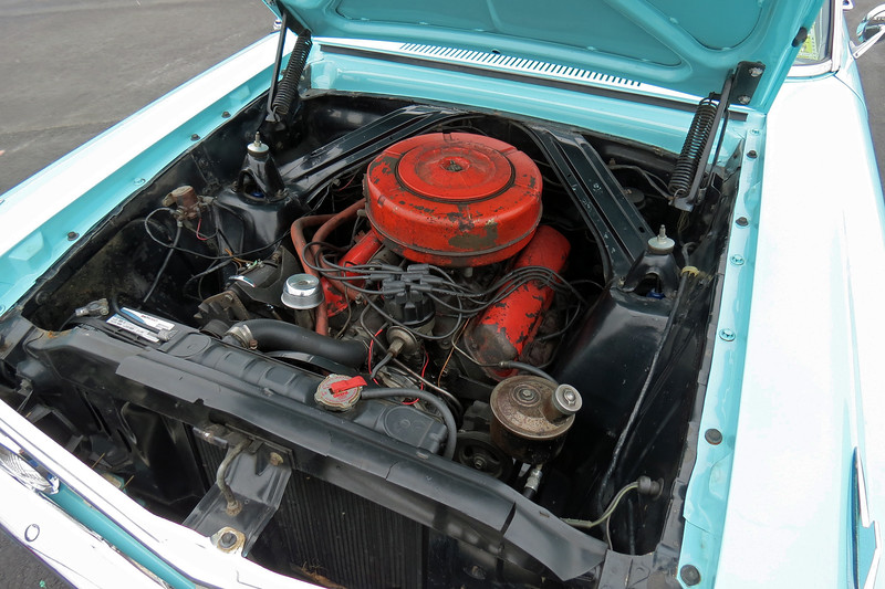 I believe this car is powered by Ford's 260 CID V8 that makes 164 hp.