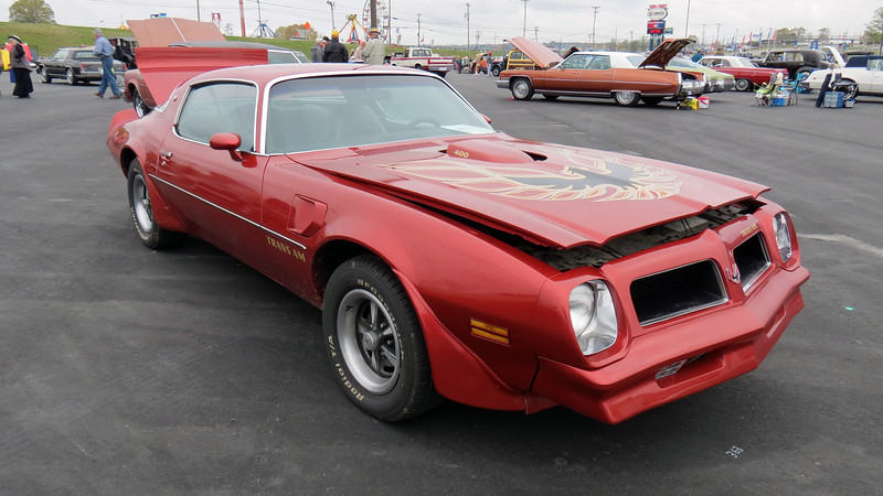 It took a while for the Pontiac Trans Am to catch on with the car buying public.  A total of 12,097 Trans Ams were produced over the car's first five model years, (1969 - 73).  But thanks in part to Pontiac's styling department, sales started to take off in 1974 where 10,255 Trans Ams were produced just that year.  That number almost tripled for 1975, (27,274 produced), and almost doubled again for 1976, (46,701 produced).