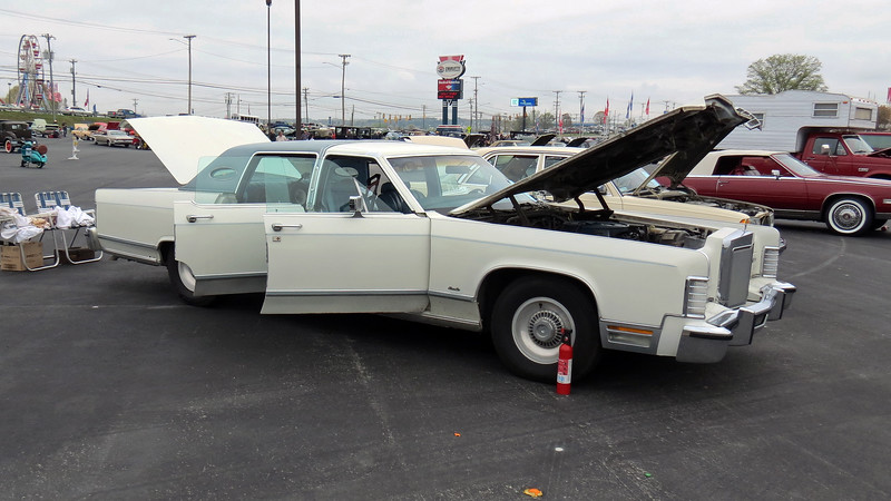 "1978 Lincoln Continental.  <br /> <br /> It didn't take long for me to realize that a lot of the HPOF cars don't match my mental image of an ""antique"" car, even though they are.  The AACA defines an ""antique"" car as one more than 25 years old.  So as hard as it is for me to believe, anything manufactured in 1994 or earlier is considered an antique.<br /> <br /> This 1978 Lincoln Continental is one of my favorites, and one that I would own as a driver in a heartbeat.  But try as I might, I just can't see it as an antique, even though basic math says it is.  This would be a recurring theme throughout this class and the DPC class which we'll get to later."