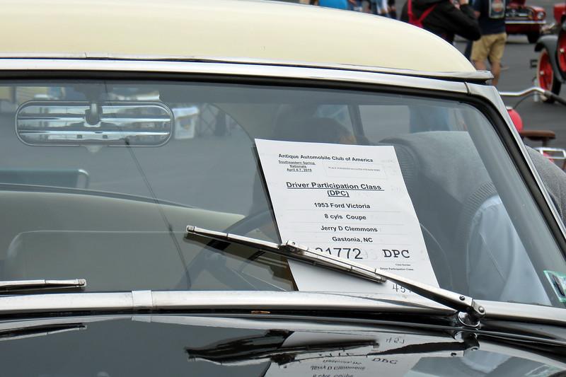 1953 Ford Crestline Victoria.