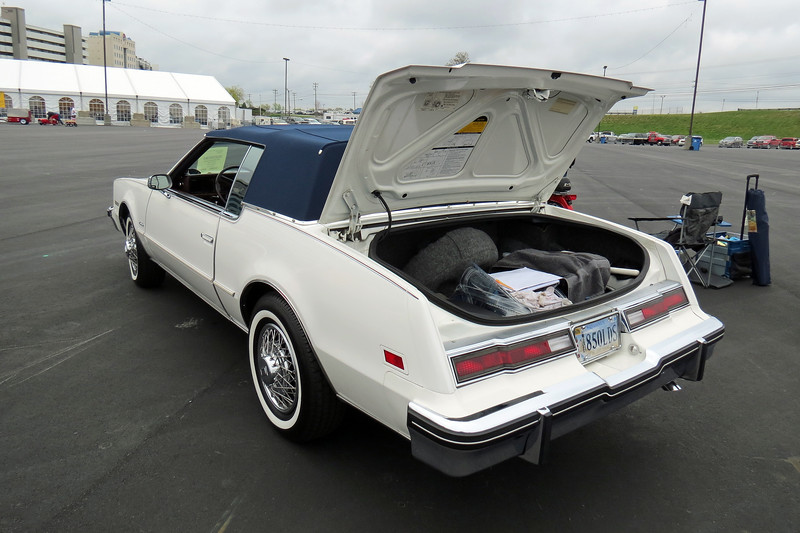 This generation Olds Toronado shared a platform with the Buick Regal and Cadillac Eldorado.  Surprisingly, the most expensive of the three, the Eldorado, outsold the others.
