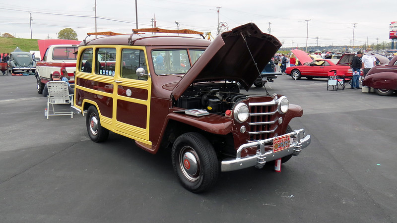 A wonderful 1950 Willys Overland Jeep Station Wagon that gets driven a lot !