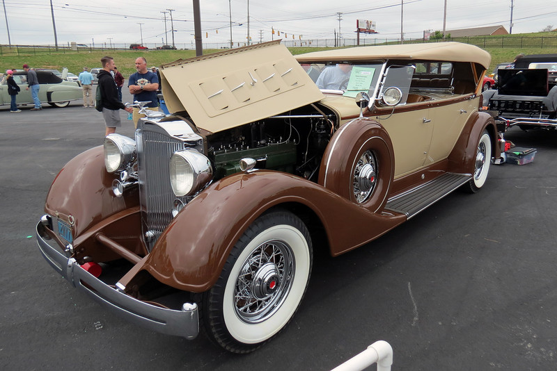 1934 Packard Super Eight Sport Phaeton.