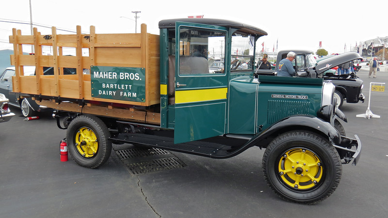 By 1929, GMC was producing its T-Series of trucks available in half-ton (T11), 1 1/2-ton (T19), 2-ton (T30), 3 1/2-ton (T60), and 4-ton (T80) configurations.  I believe the truck seen in the photos above is a 1 1/2-ton T19.  Power comes from a 200 CID Pontiac I6 that makes 60 hp.