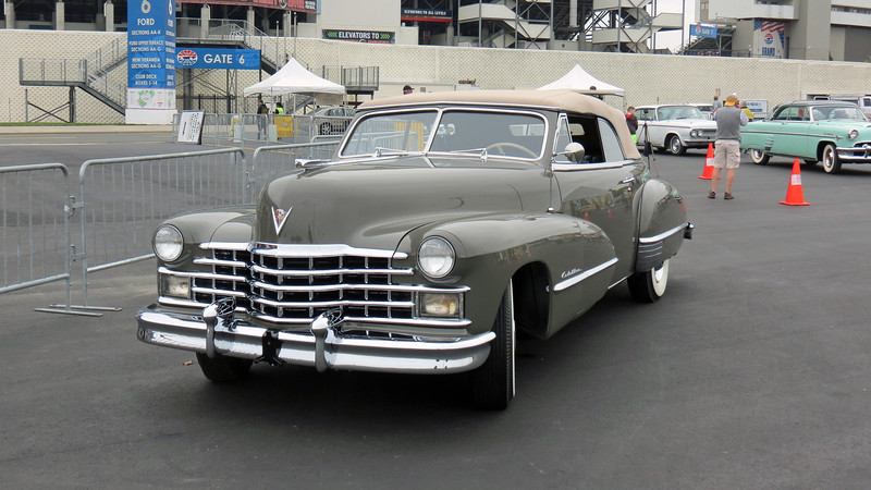 Apparently, there was some kind of confusion at to what class the '47 Caddy was to be in.
