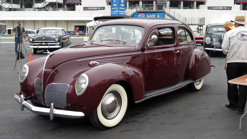 The first of two 1938 Lincoln Zephyrs arrives.