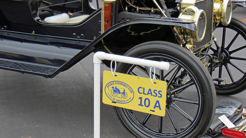 Class 10A:  Ford Model T, Brass radiator, 1909 - 1912.