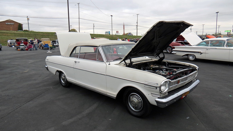 Of those three trim levels, only the Nova 400 was available as a convertible.  This car is one of 23,741 Nova convertibles made that year.