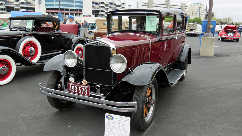 "Erskine was an entry-level companion make for Studebaker from 1927 - 30.  The name ""Erskine"" is a reference to Albert R. Erskine who was the president of Studebaker at that time."