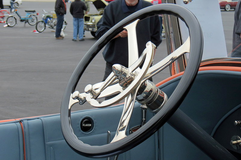 In stark contrast to the computer controls of the modern era, the levers seen in the photo above come from a time when the driver had to make adjustments manually while driving.  This is how it was done a century ago.