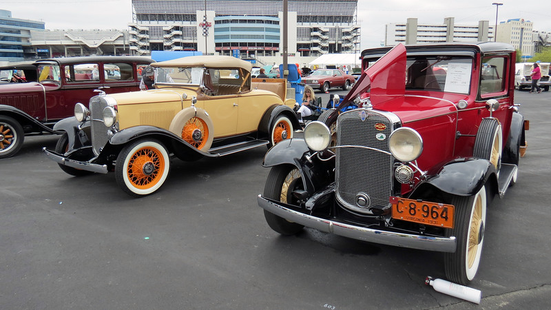 "I mentioned earlier that during the late 1920s and early 1930s, Chevrolet used a different name for its product lines each year.  The 1927 model line was known as the ""Series AA Capitol.""  That was replaced by the ""Series AB National"" for 1928, which was followed by the ""Series AE International"" in 1929.  The ""Series AD Universal"" for 1930 was followed by the cars seen in the photo above, the ""Series AE Independence,"" in 1931.<br /> <br /> For the record, the 1932 model line was known as the ""Series BA Confederate.""  Then beginning in 1933, Chevrolet offered more than one model line and used a different name for each, (the entry-level Mercury and upper-level Eagle)."