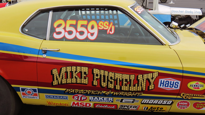Mike Pustelny raced the car throughout the 1970s and 1980s.