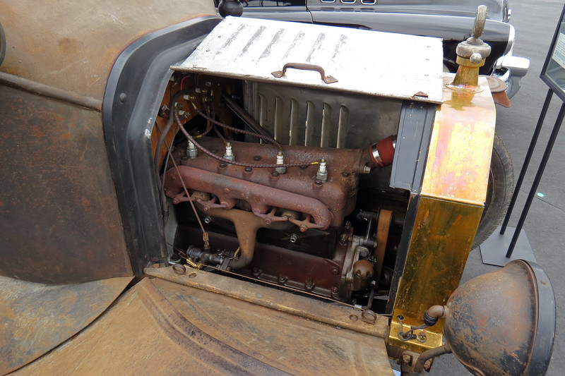 The Model T's engine displaced 177 cubic inches and made 20 hp.