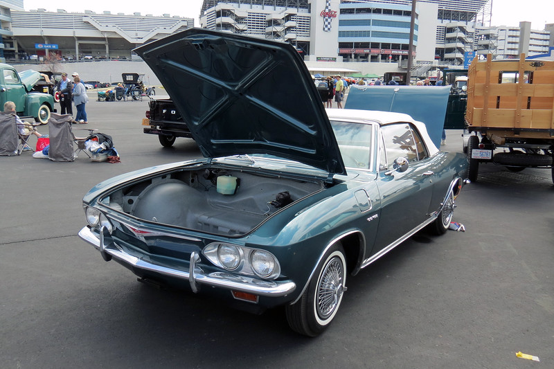 1965 Chevrolet Corvair Corsa convertible.