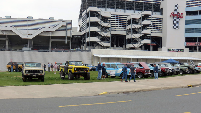 Part of the Charlotte Auto Fair activities includes not only an AACA show, but a whole host of local and regional car club shows as well.  Members of the Southern Scouts were gathered outside the main entrance of the speedway.