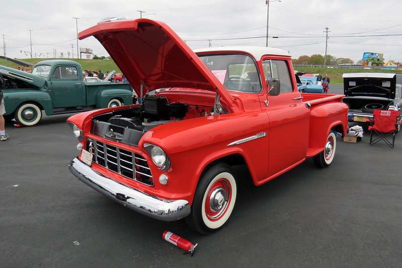 1955 Chevrolet 3100 Series pickup.