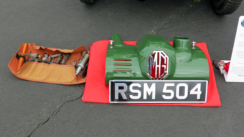 The car was displayed with a tool kit.