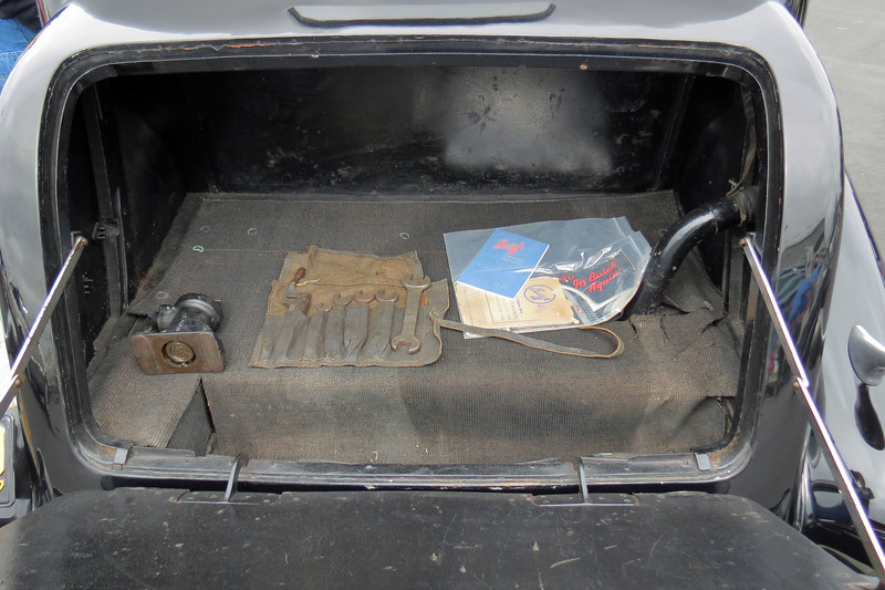 The original jack and tool kit are still with the car.