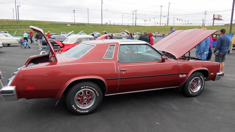 The Cutlass was available in 11 different body configurations.  This car is a Salon Colonnade coupe, one of 48,440 made that year.