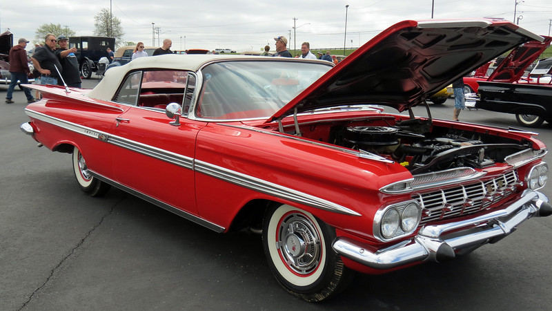 Even though previously mentioned DeSoto was clobbered by recession of 1958 and never recovered, Chevrolet did very well in 1959, selling more than 1.4 million vehicles that year.  The V8-powered Impala convertible, (style code 1867), accounted for 65,800 of them.
