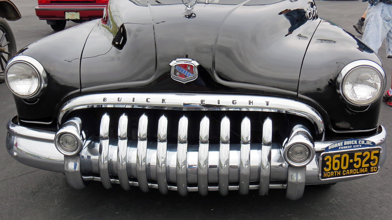 "This is definitely an interesting design for a grill !  The automobile grill is often used as a key styling feature that is designed to grab your attention and make the car easily identifiable.  Buick stylists certainly succeeded in this regard.  <br /> <br /> But the design of this grill is a little more complicated than usual.  Each of the nine individual ""teeth"" in the grill is a separate piece.  And, each ""tooth"" is different because of the way the bumper is curved.  In other words, NONE of the nine separate ""teeth"" are interchangeable.  Each one is different and has a separate part number.  I can envision the chaos this would have caused at a Buick dealership parts counter back in the day."