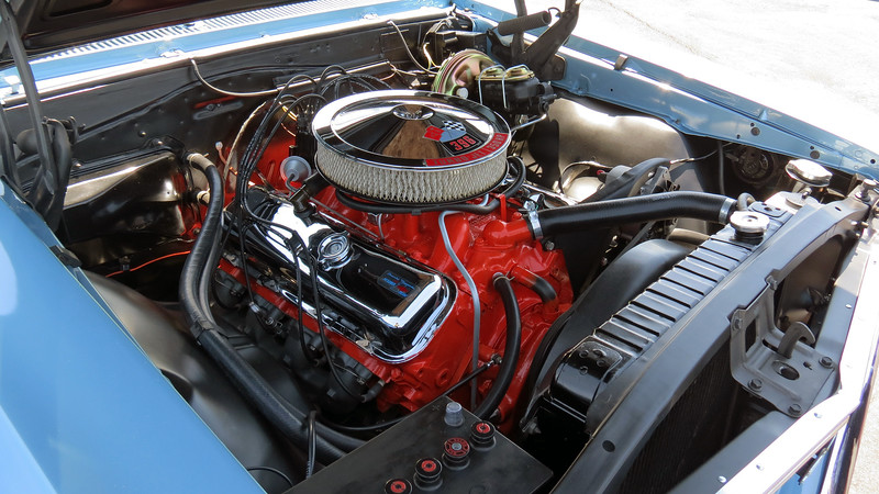 This car is powered by Chevrolet's RPO L34 396 CID V8 that makes 350 hp, (instead of 360 hp like it made in 1966).