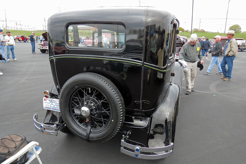 1931 Ford Model A slant windshield sedan.
