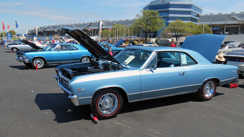 The third of three 1967 Chevrolet Chevelle SS396s on display.