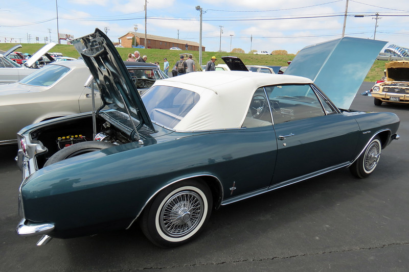 The engine in the Corvair is rear-mounted.