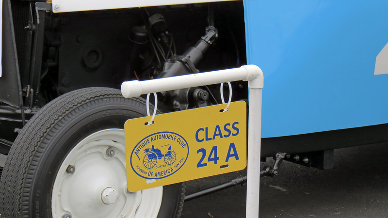 Class 24A:  Documented competition vehicles, oval, straight, or circular track thru 1994.<br /> <br /> Class 24 is for documented racing vehicles and is broken down into four sub-classes.  The first three, 24A, 24B, and 24C, all pertain to the type of racing in which the vehicle was used.  <br /> <br /> The fourth sub-class, 24D, is for documented racing vehicles that are unrestored.  And like the HPOF and DPC classes, Class 24D is a certification class and the vehicles therein are not point judged.