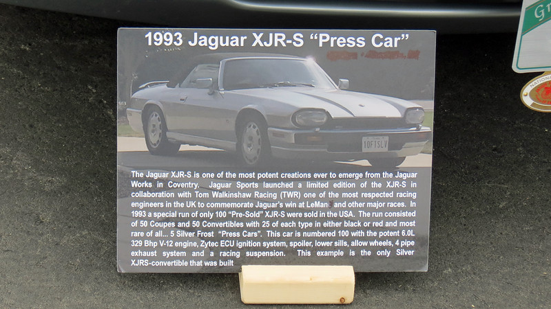 Jaguar, in conjunction with Tom Watkinshaw Racing, offered this V12-powered limited edition version of the long-running XJS in 1993.  A total of 100 cars, 50 coupes and 50 convertibles were sold in the US for the 1993 model year.