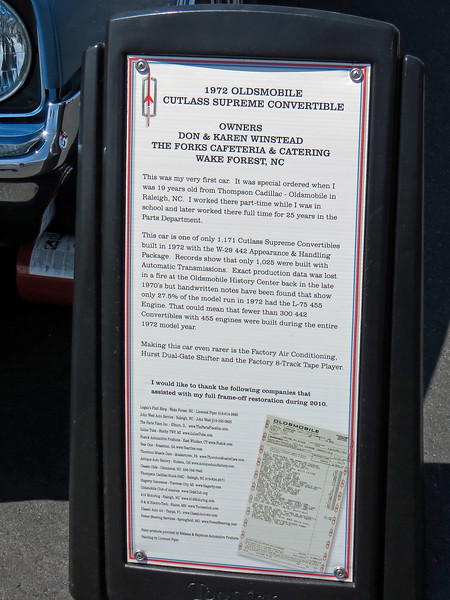 According to the information on display, this is an original owner car.  In fact, the owner ordered this car from the dealer where he worked when he was 19.