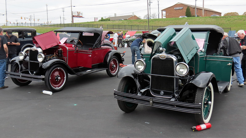 A pair of 1928 Chevrolet AB Nationals.