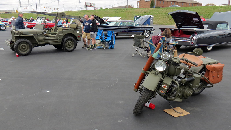 There were two military vehicles on display.  I saw both of them as they arrived.