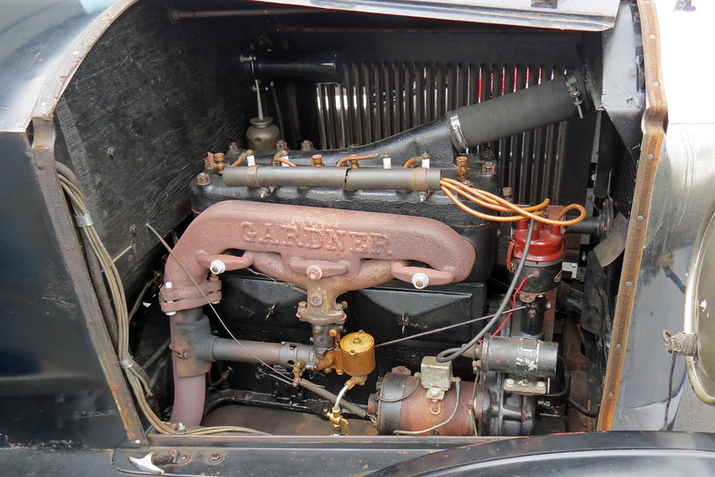 The Gardner's Lycoming CE series I-4 engine made 43 hp and was the most powerful production 4-cylinder engine on the market at that time.  It also had the distinction of being the only 4-cylinder engine to have 5 main bearings.