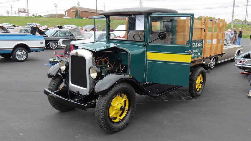 1929 GMC T Series stake body truck.